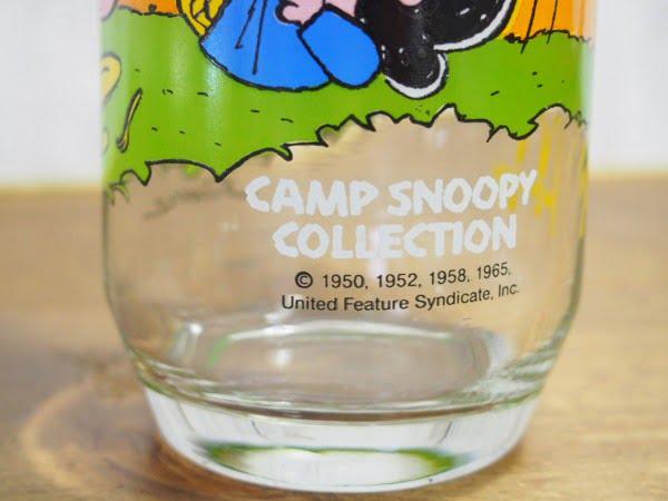 キャンプ・スヌーピー グラス(ライナス)の下部ロゴ部分