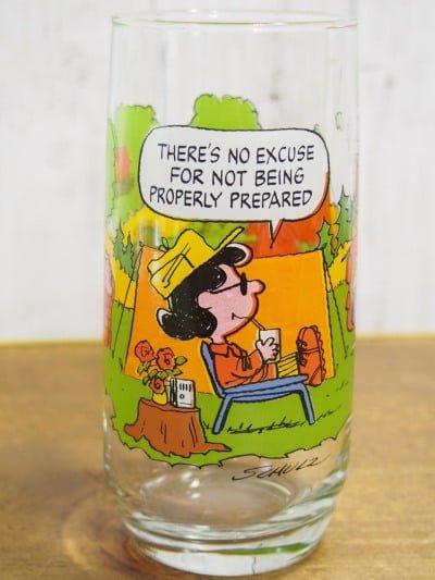 キャンプ・スヌーピー グラス(ルーシー)の正面