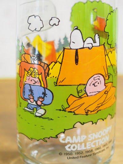 キャンプ・スヌーピー グラス(ルーシー)のスヌーピー