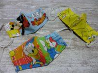 キャラクターのハンドメイド立体マスク(3種類)