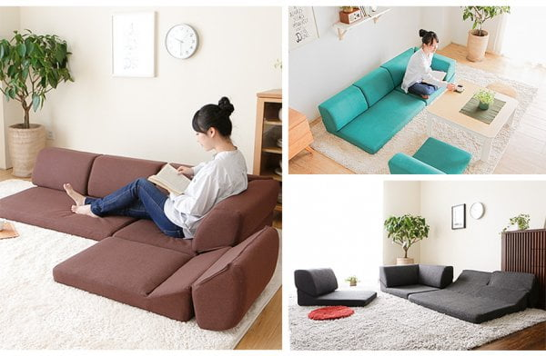 床で使えるソファ