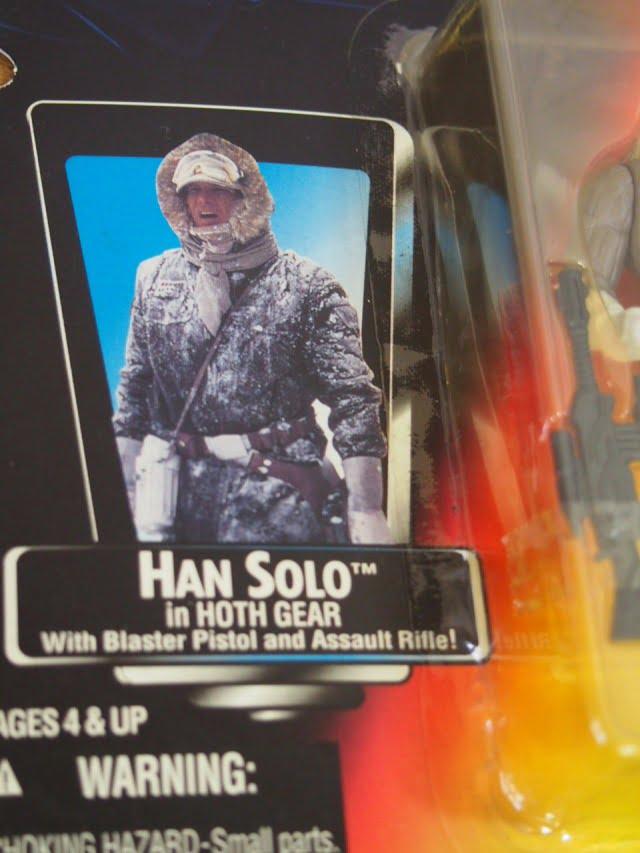 スターウォーズ ベーシックフィギュア ハン・ソロ イン ホースギア The Power of the Force Kenner 1996のパッケージ表右側