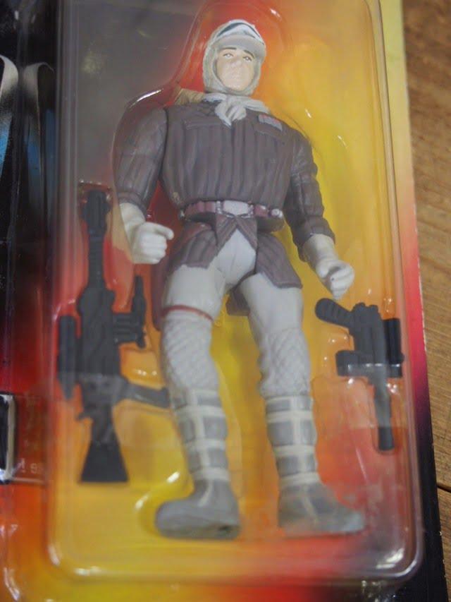 スターウォーズ ベーシックフィギュア ハン・ソロ イン ホースギア The Power of the Force Kenner 1996のブリスター部分