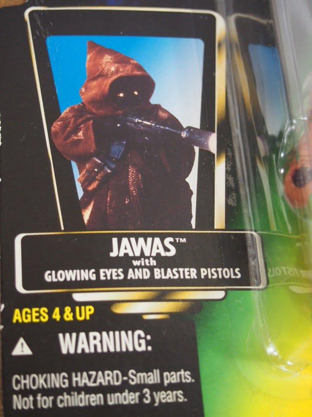 スターウォーズ ベーシックフィギュア jawas The Power of the Force Kenner 1996のパッケージ表右側