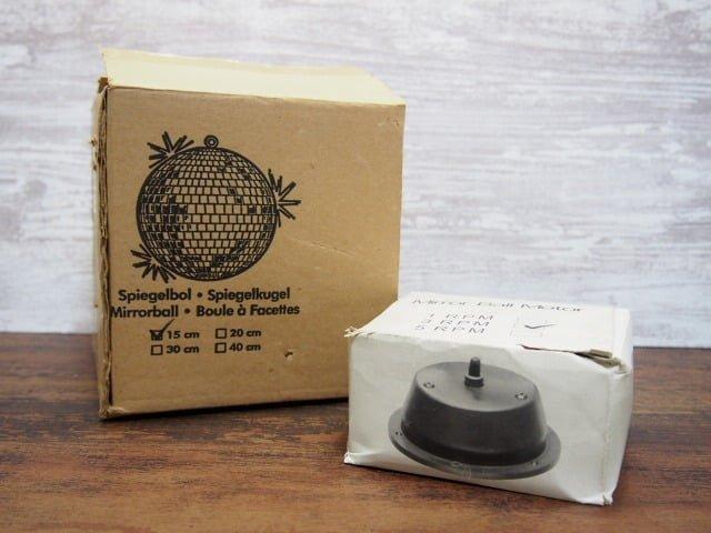 ミラーボールとミラーボールモーターの箱