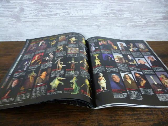 スター・ウォーズ エピソード1の映画パンフレットの登場キャラクター紹介のページ