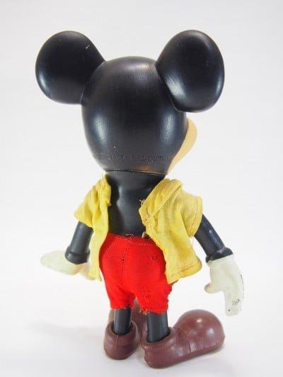 R.デーキン社のミッキーマウスのソフビドールの後姿