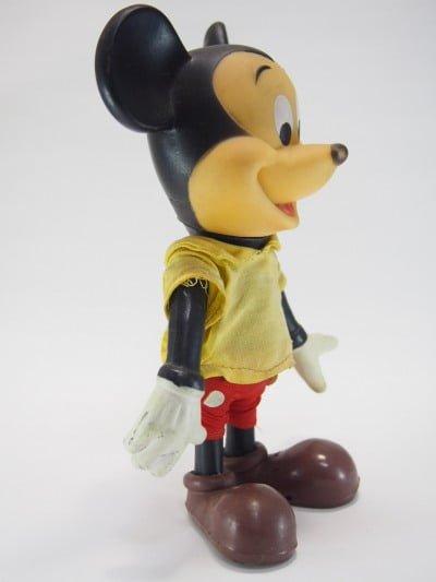 ミッキーマウスのR.DAKIN&CO.のソフトフィギアの横