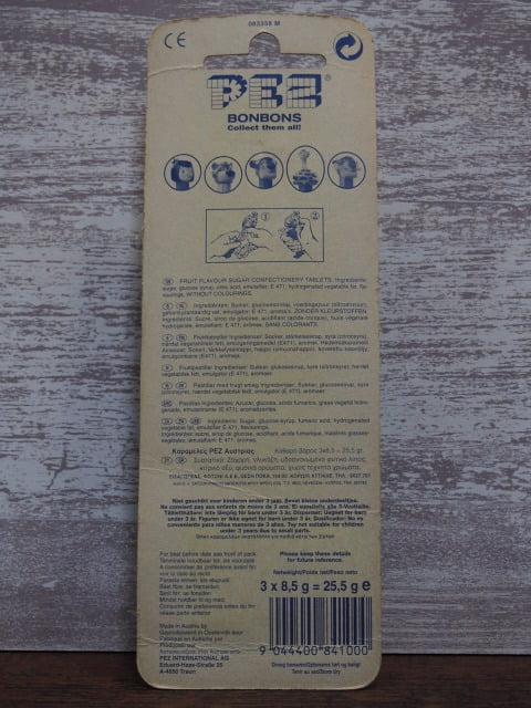 ジャングル・ブック2 – カー – PEZ のパッケージ裏側