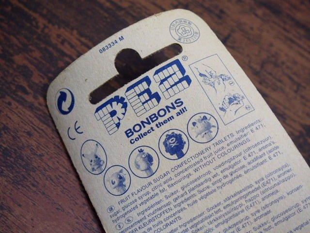 PEZ ペッツ – ポケモン ミュウのパッケージ裏側上部