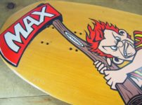 Poorhouse Skateboards Deck - Max Evansのノーズキック裏側