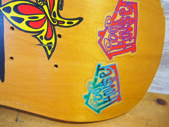 Poorhouse Skateboards Deck - Max Evansのテールキック部分