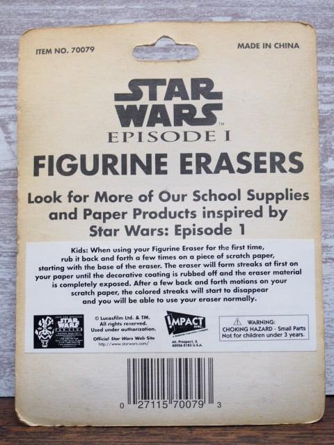 R2-D2 – スターウォーズ フィギュア消しゴム Aセットのパッケージ裏側