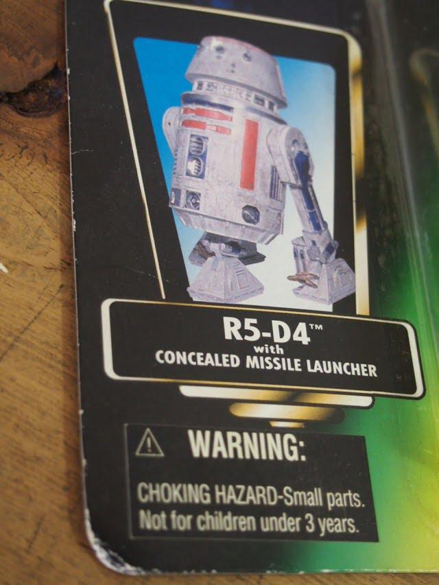 スターウォーズ R5-D4 フィギュア The Power of the Force Kenner 1996のパッケージ表右側