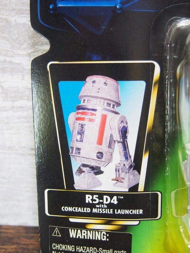 スターウォーズ R5-D4 フィギュア The Power of the Force Kenner 1996のパッケージ表右側-stock.no.2