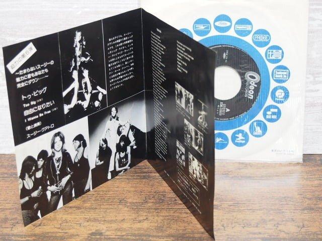 トゥ・ビッグ(スージー・クアトロ)の中古レコードのライナーノーツ