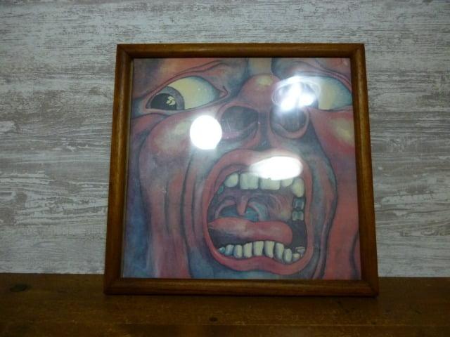 UVカットフィルムを貼り付けたレコードフレーム