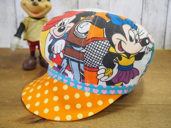 ディズニーの柄が可愛いハンドメードのキャスケット