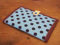 ドット柄が可愛い手作りの母子手帳カバー
