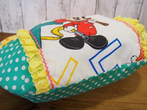 ミッキー柄の手作りトートバッグの底