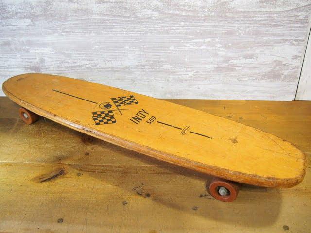 1960'S ビンテージウッドスケートボード INDY 500 SPORT FUN INC