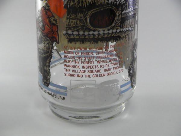 スターウォーズ×バーガーキング×コカコーラのノベルティグラスの下部写真