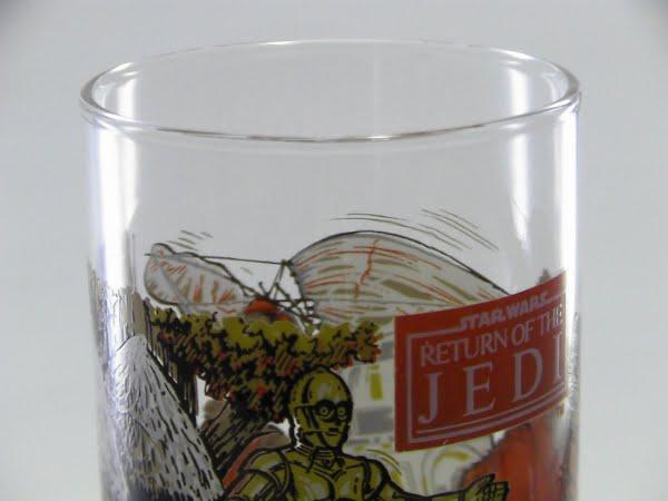 スターウォーズ×バーガーキング×コカコーラのノベルティグラスの上部写真