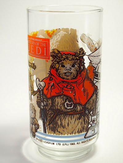 スターウォーズ×バーガーキング×コカコーラのノベルティグラスの正面