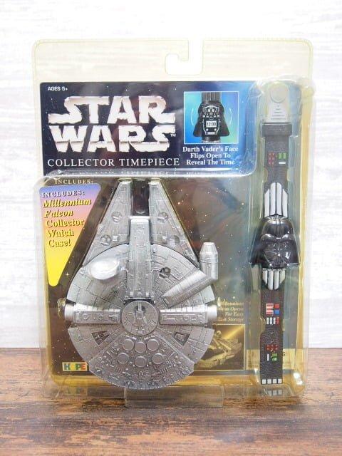 Star Wars Darth Vader Collector Timepiece Watch&Millennium Falcon Case