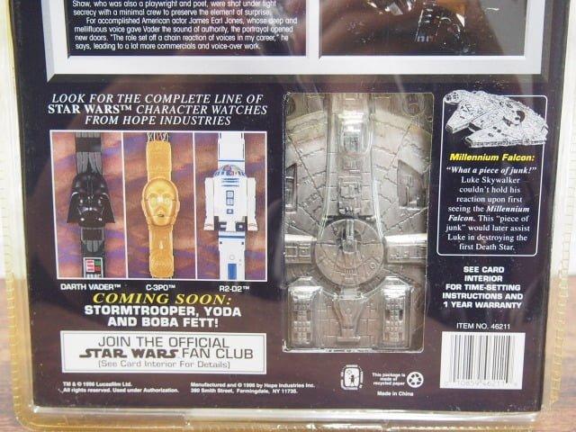 スター ・ウォーズ Collector Timepiece ダースベイダーのパッケージ裏側下部
