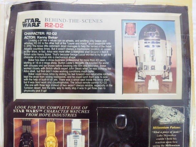 スター ・ウォーズ Collector Timepiece R2-D2 フェイスウォッチのパッケージ裏側上部