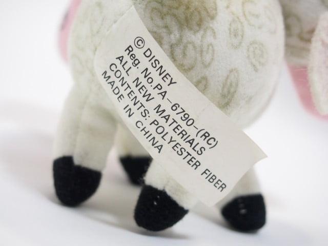 TOY STORY 羊のぬいぐるみのタグ