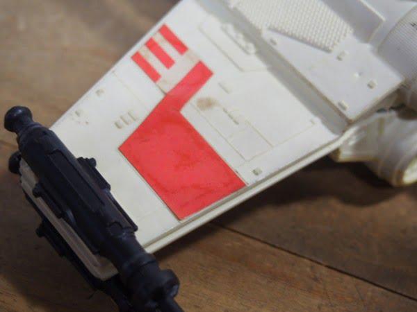 Xウイング・ファイター(Kenner製 1978年)のフィギュアのレーザー砲